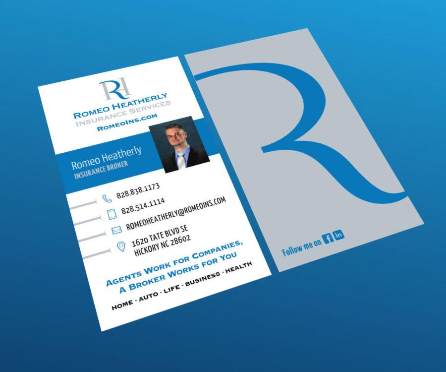 Reverie Media | » Romeo Insurance Business Card