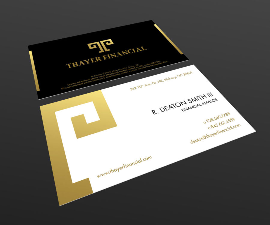 Reverie Media | » Thayer Financial Business Card